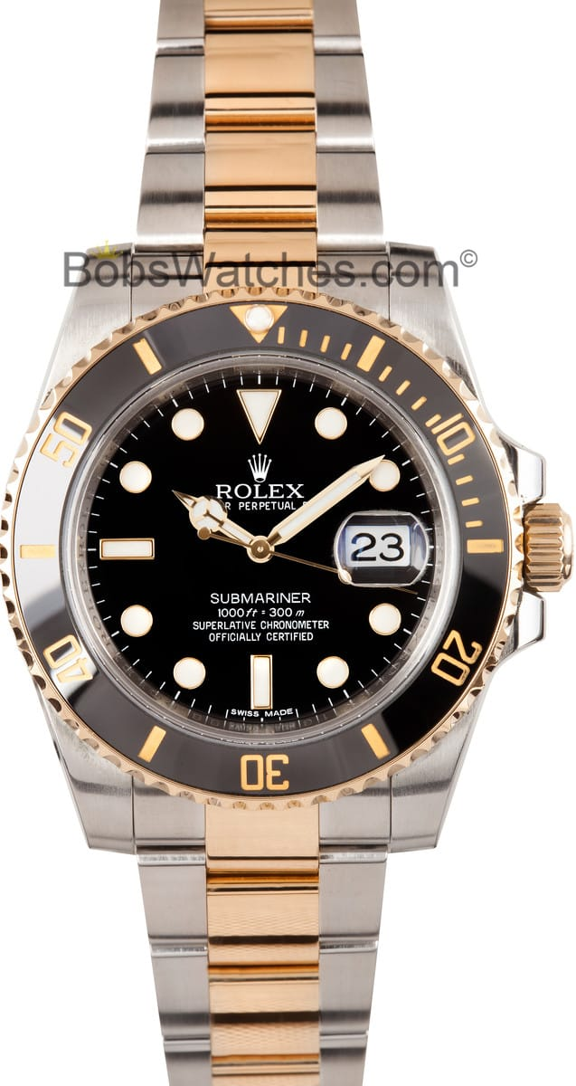 Rolex Submariner 116613 Steel & Gold - Save At Bob's Watches