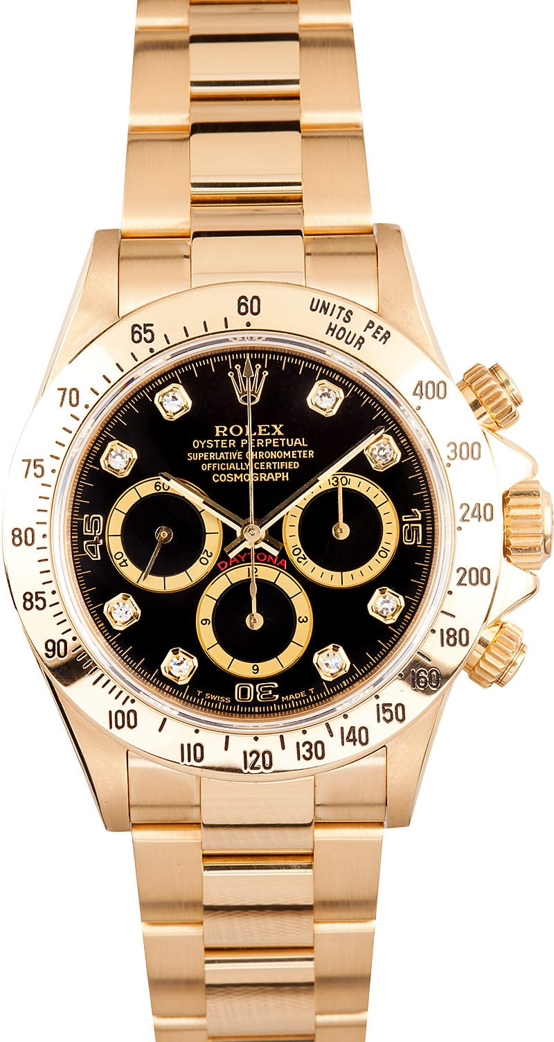 ab3cd7a2a26 Rolex Cosmograph Daytona 16528 Zenith at BobsWatches