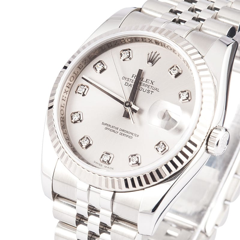 Rolex DateJust 116234 Diamond Dial from Bob's Watches