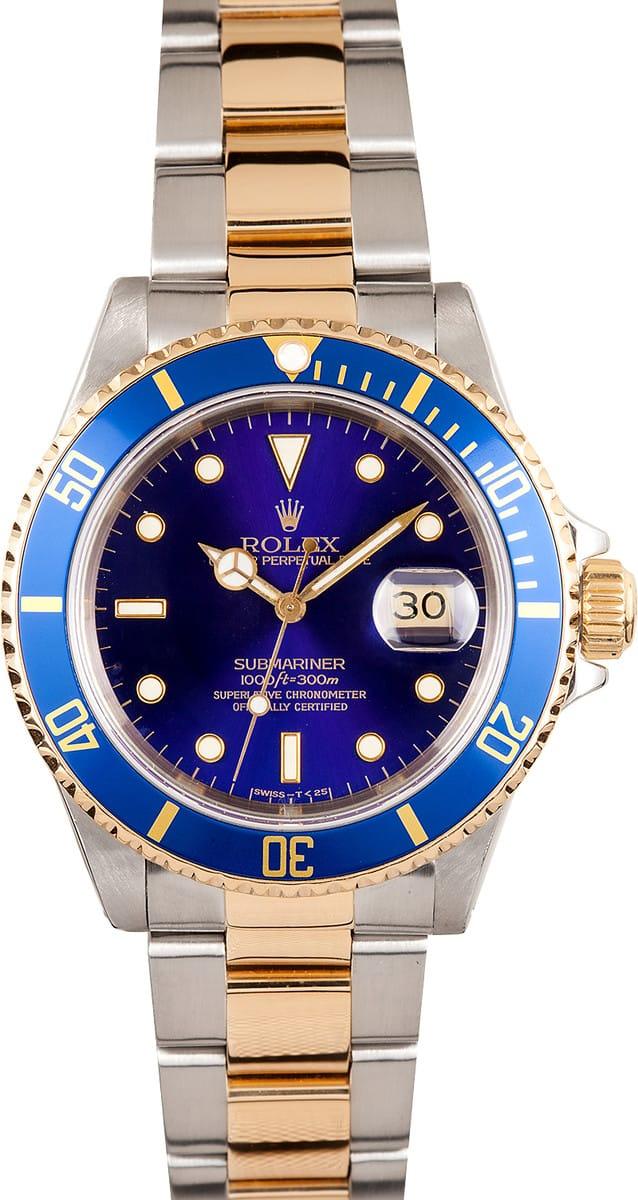 Submariner Rolex 16613 Blue Bob S Watches