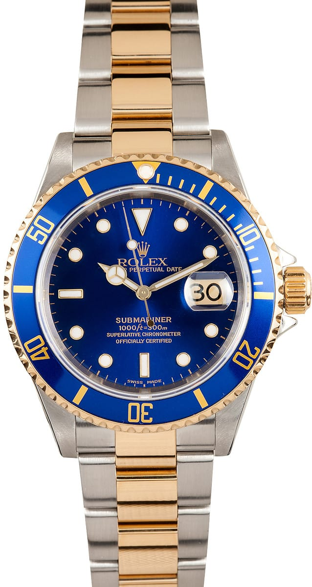 rolex two tone submariner 16613 save on authentic rolex tattoo design bild. Black Bedroom Furniture Sets. Home Design Ideas
