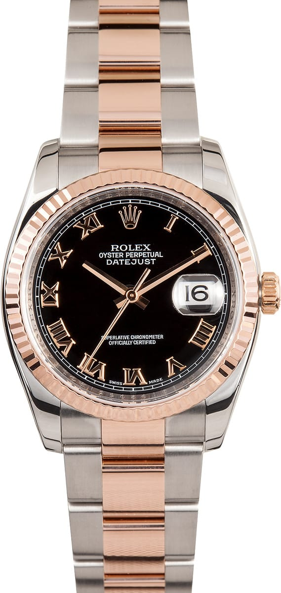 Certified Pre Owned >> Rolex Rose Gold Datejust 116231 - Save on Authentic Watches