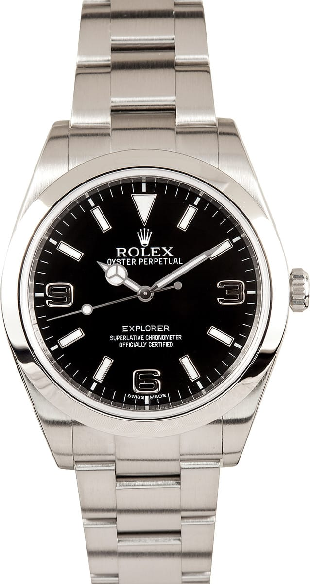 Certified Pre Owned >> Rolex Explorer 214270 - Save on Authentic Rolex at Bob's ...