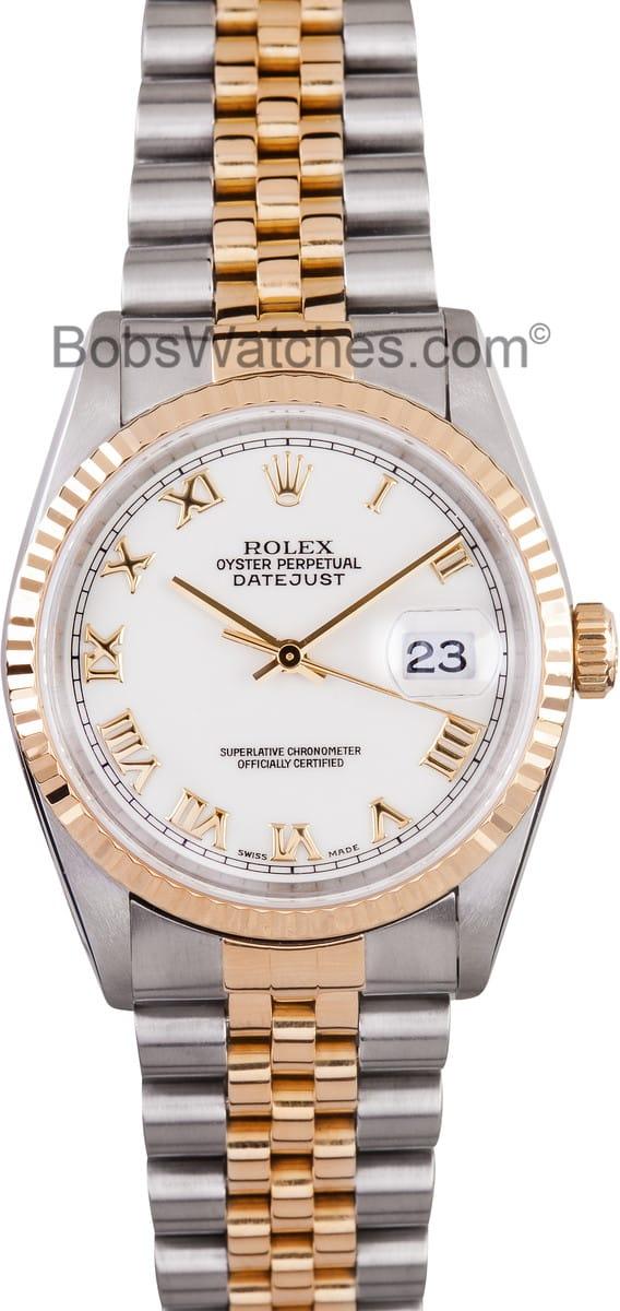 Daytona Rolex Watch >> Mens Rolex Datejust Roman Dial 16233 - Find Best Prices