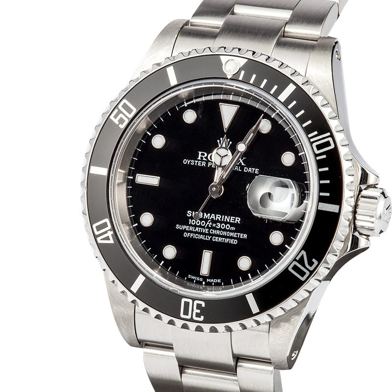 Rolex Submariner 16610 - Save on Swiss Watches at Bob's
