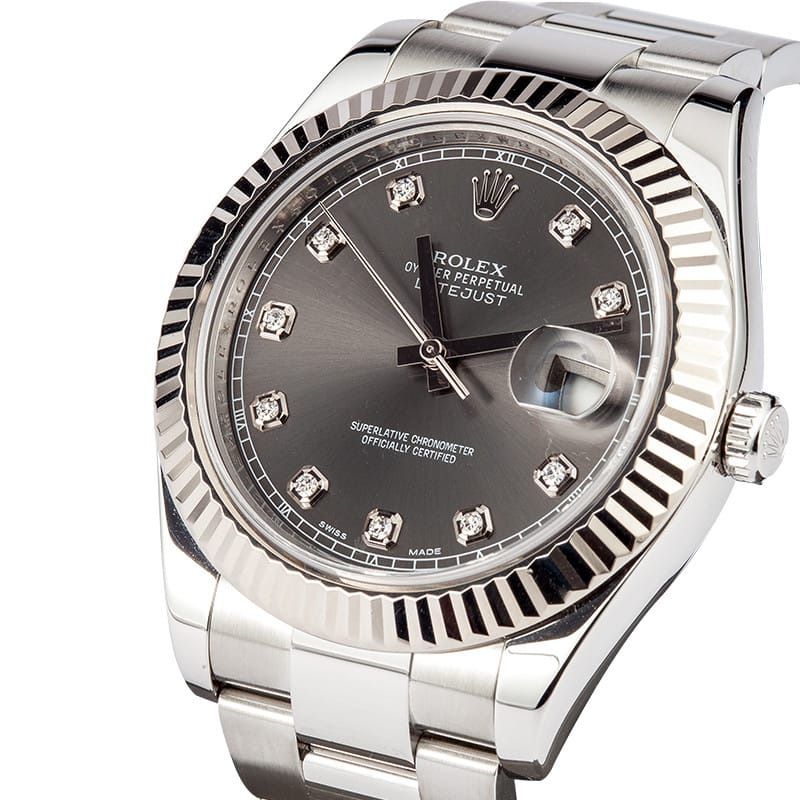 Rolex Datejust II Diamond Dial 116334 - Save At Bob's Watches