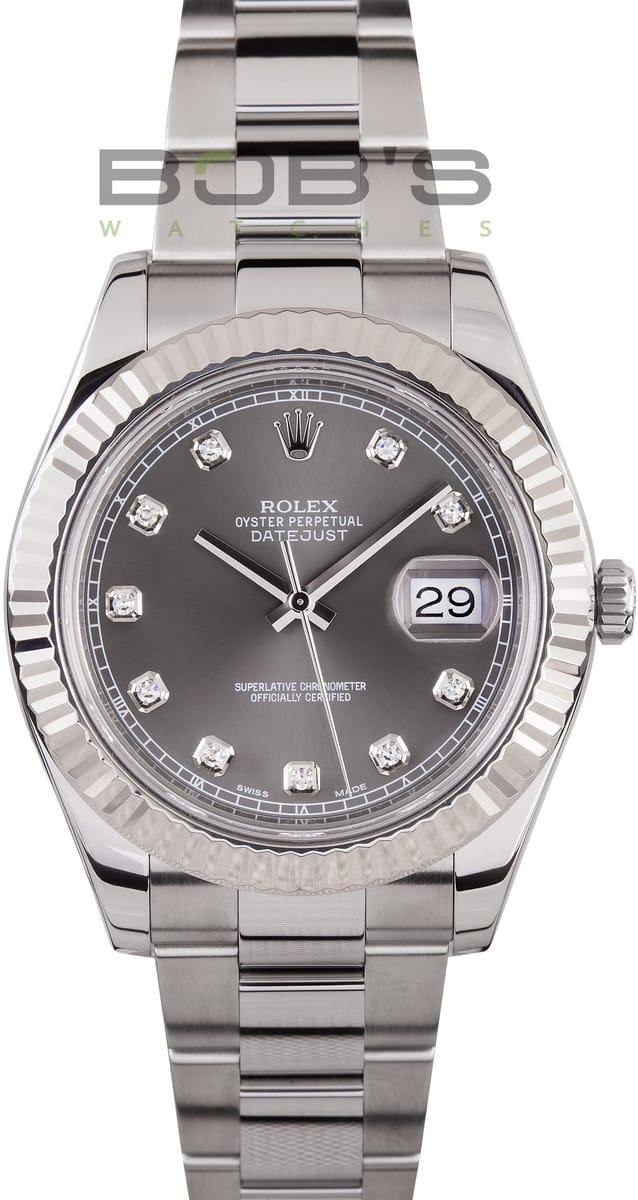 Rolex DateJust II Stainless Steel Diamond Dial Ref. 116334