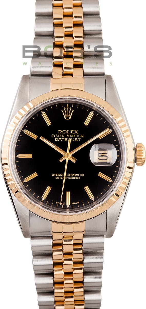 Rolex Oyster Datejust In Stainless Amp Gold Ref 16233 Bob