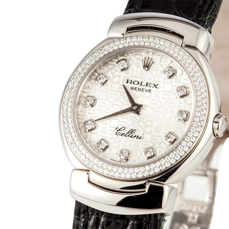 Cellini Diamond: Rolex Ladies Cellini Diamond Bezel