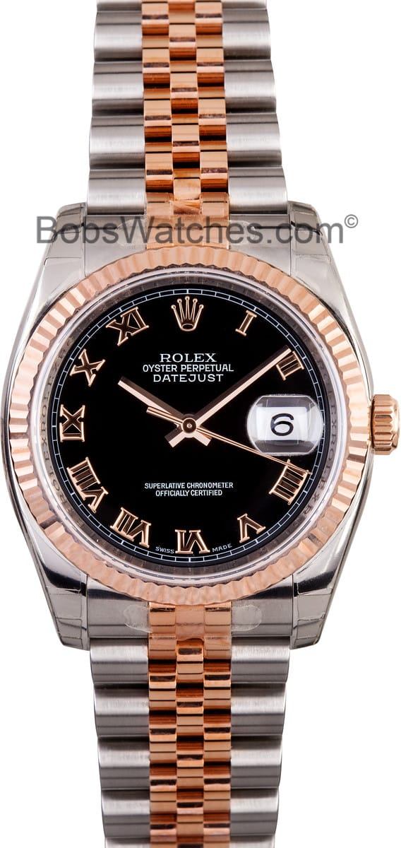 Used Rolex Daytona >> Rolex DateJust Rose Gold & Stainless - Save on Authentic Rolex at Bobs