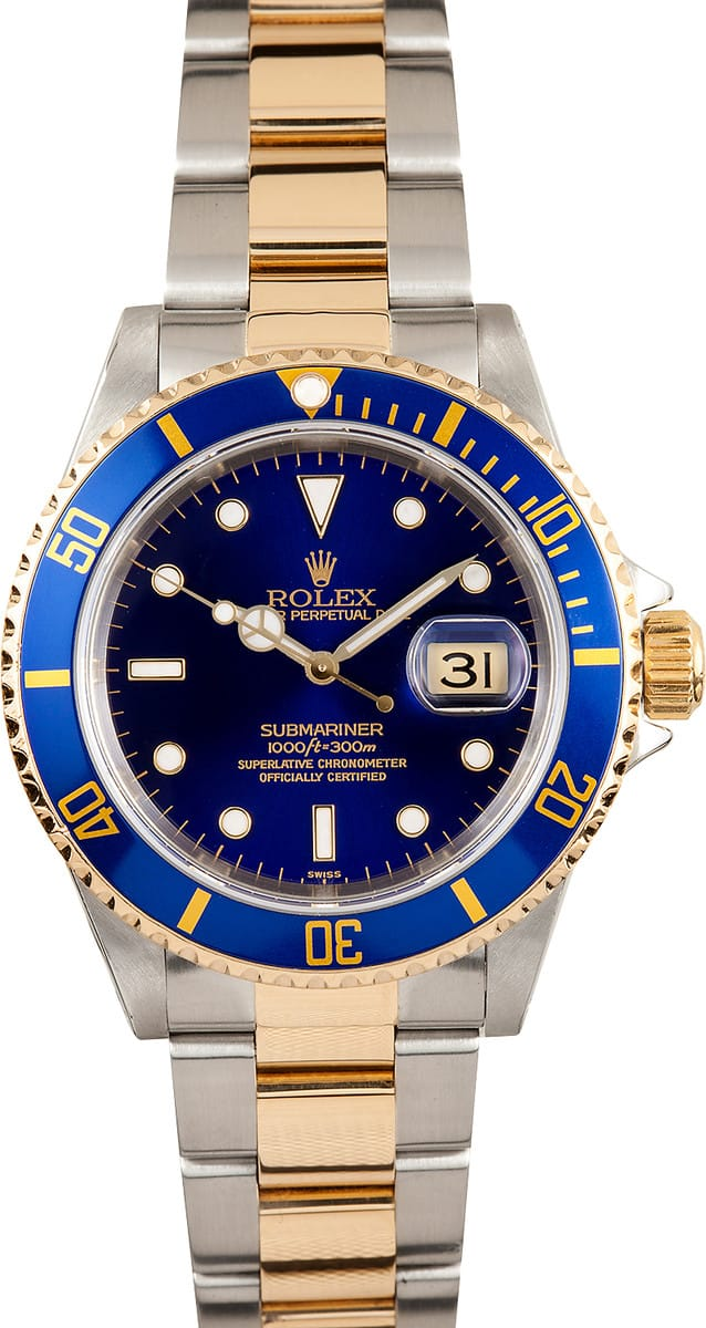 Used Rolex Submariner >> Rolex Two Tone Sub 16613 - Bob's Watches