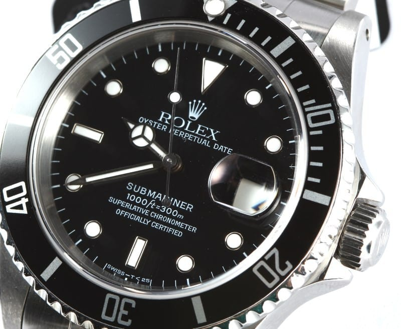 Certified Pre Owned >> Rolex Oyster Perpetual Submariner 16610 - Bob's Watches