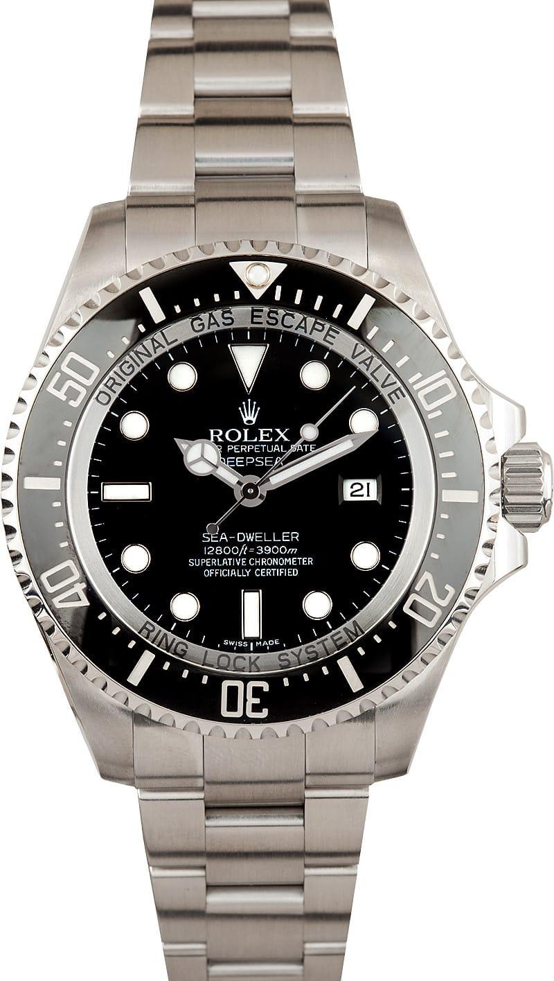 Certified Pre Owned >> Rolex Sea Dweller Deepsea 116660 at Bob's