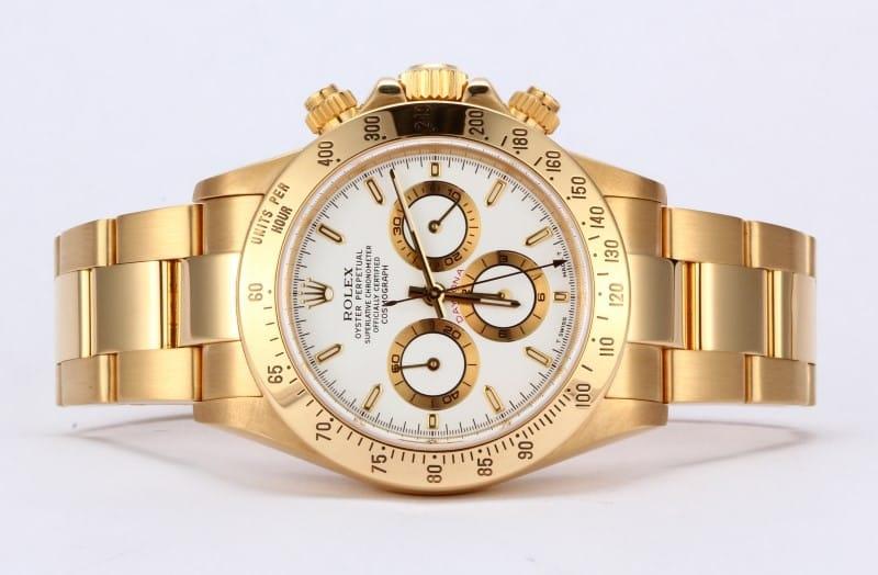 Gold Rolex Daytona White Face Armourseal Co Uk