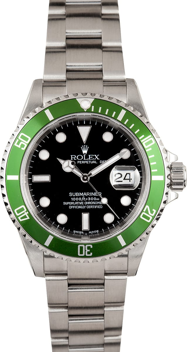 9ed448e84291 Rolex Men s Submariner Green Anniversary Edition 16610