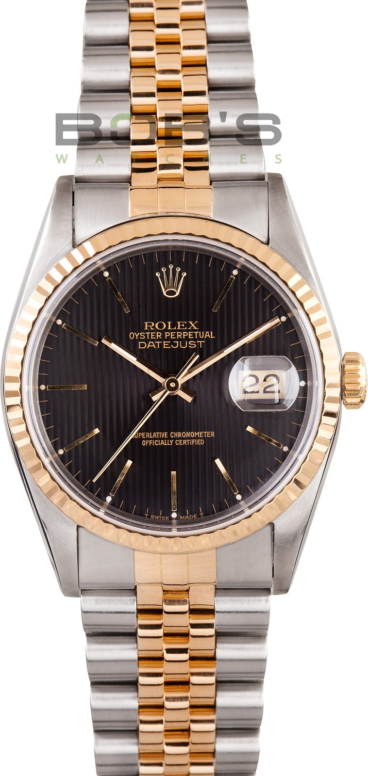Used Rolex Daytona >> Rolex DateJust 16233 at Bob's Watches. Save on 100% Rolex