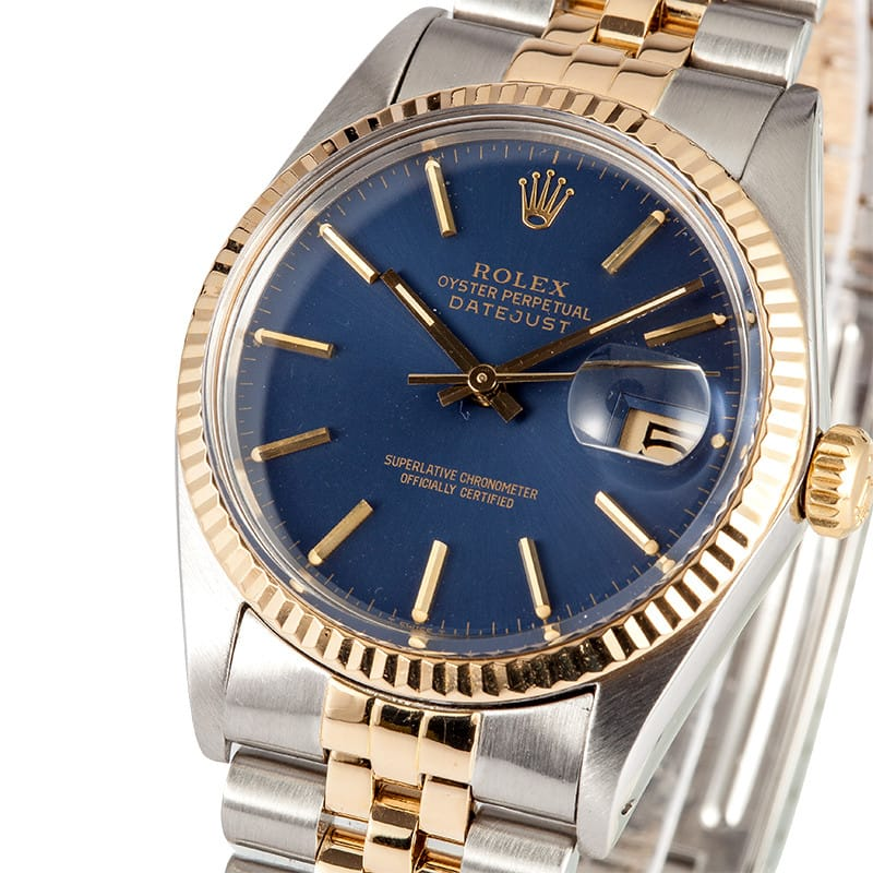 40e8f1d8a82 Rolex Datejust 16013 Blue Dial - 100% Genuine Rolex