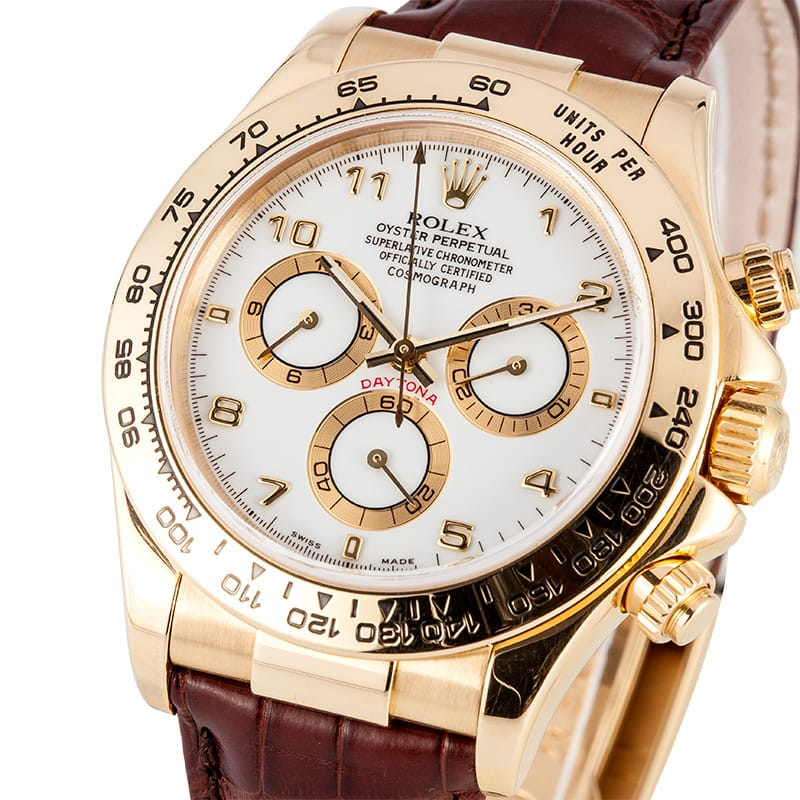 Rolex Daytona Leather Band At Bob S Watches Buy At 16595 00