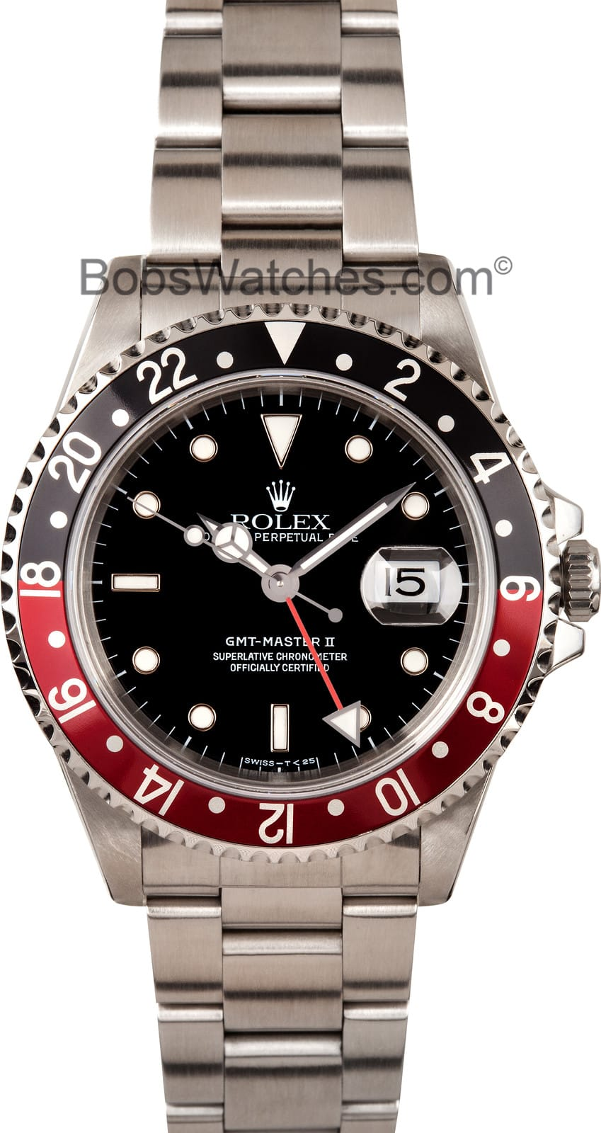 Used Breitling Watches >> Rolex GMT-Master II Coke Bezel Steel 16710 - Bob's Watches