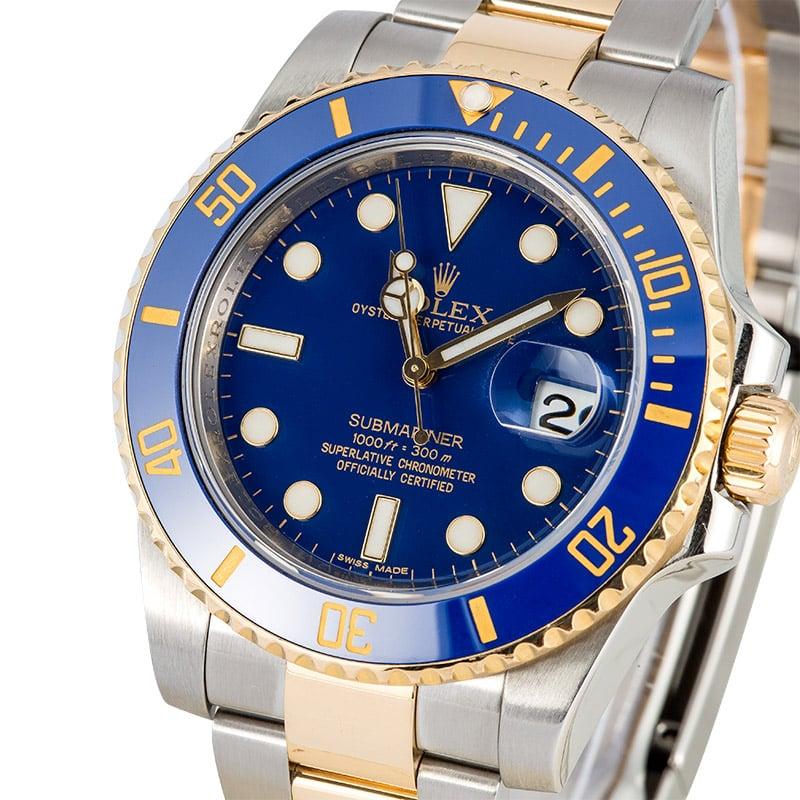 Rolex Submariner Blue Gold Silver