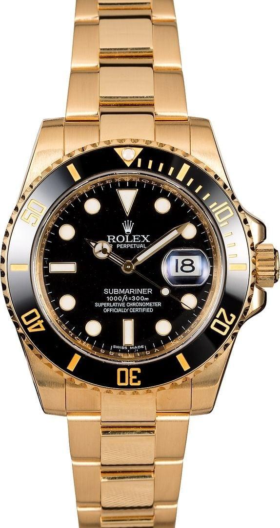Used Mens Rolex >> Used Rolex Submariner 18k Gold 116618