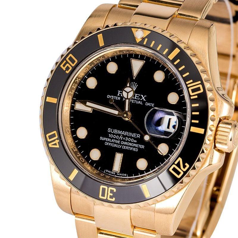 Rolex Submariner Gold Watch