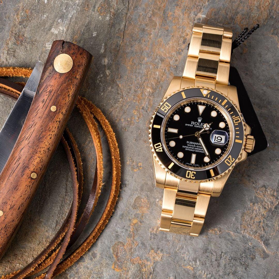 Used Rolex Submariner 18k Gold 116618
