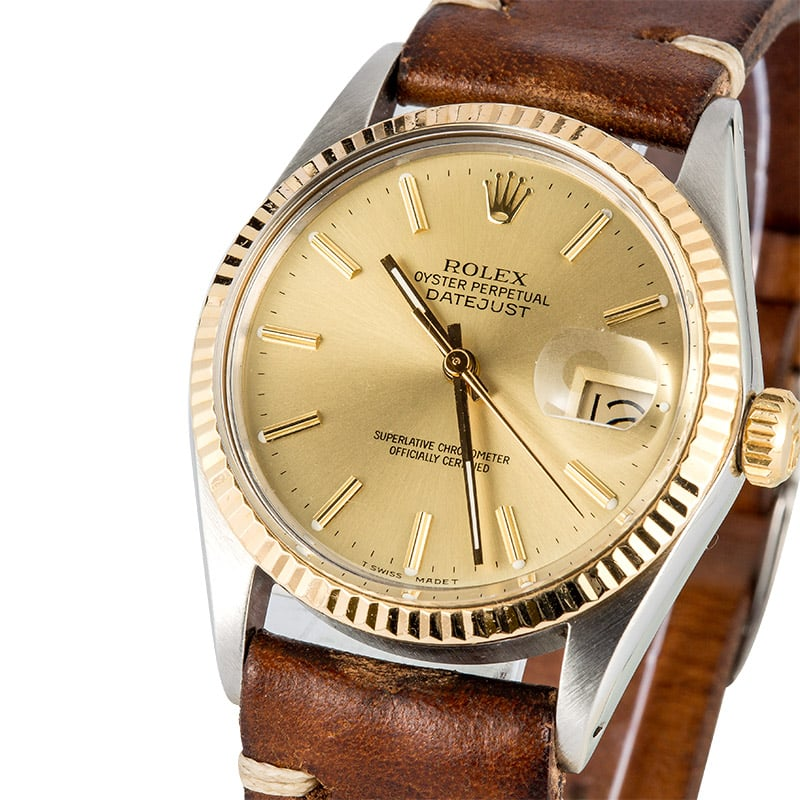 Rolex Datejust Leather Strap