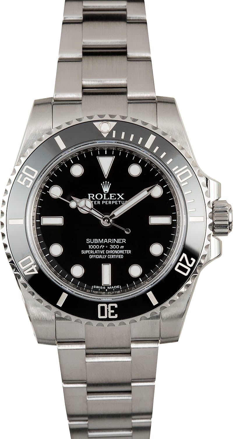 rolex submariner 114060 no date watch. Black Bedroom Furniture Sets. Home Design Ideas