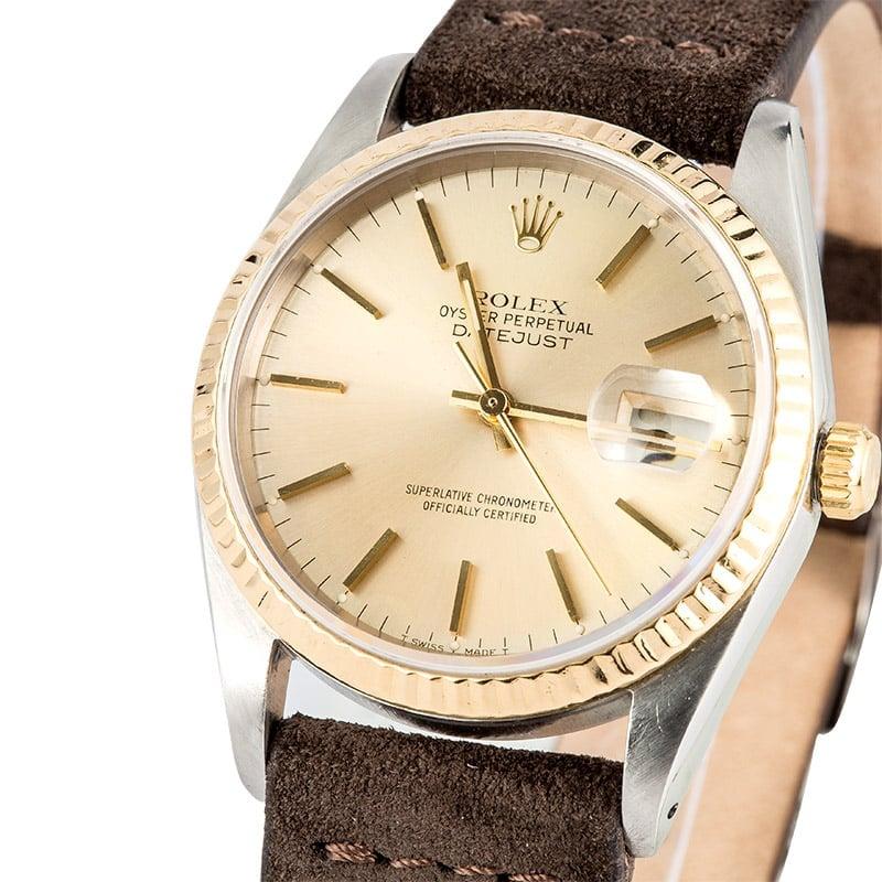 Rolex Datejust 16233 Leather Strap