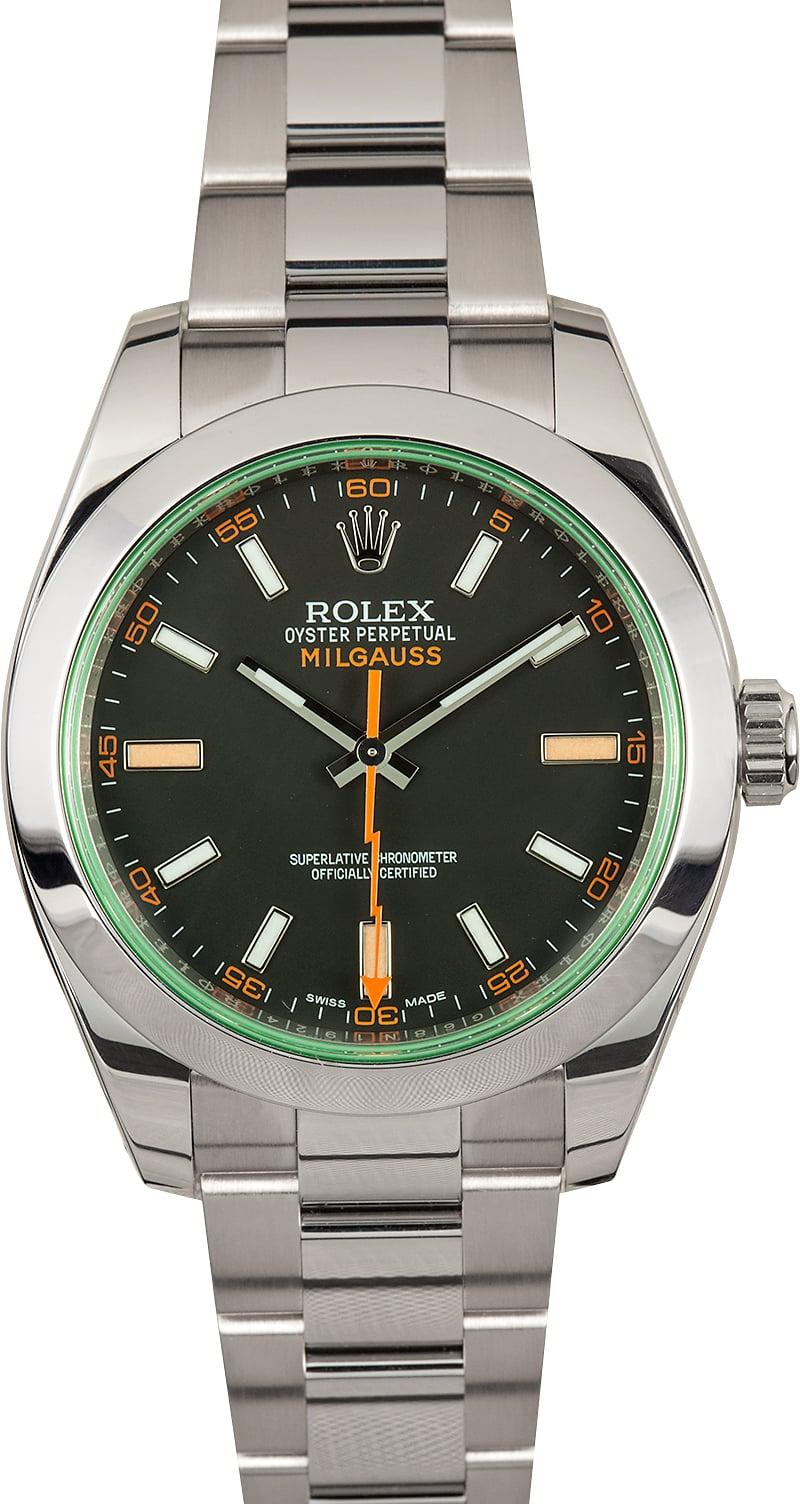 Rolex milgauss 116400gv certified pre owned for Rolex milgauss