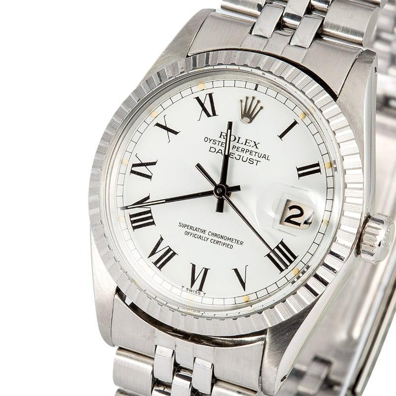 ff95e2b2ede1 Rolex Datejust 16030 White Roman