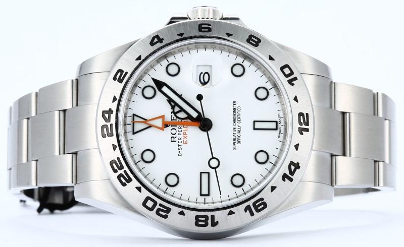 ca8c2d4e007 Rolex Explorer II 216570 White 100% Authentic