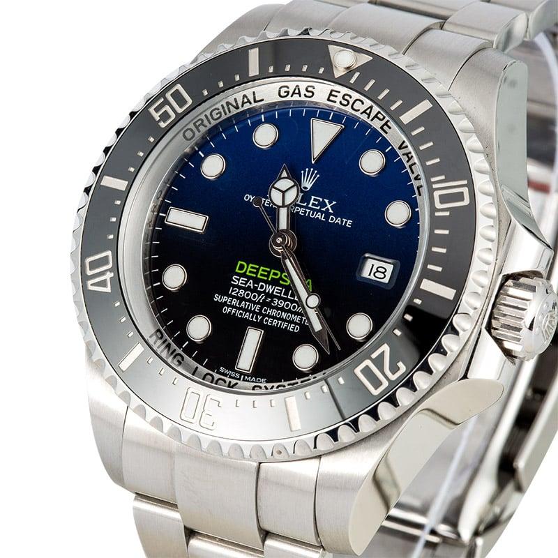Rolex Sea-Dweller Deepsea Blue 116660 Certified Pre-Owned