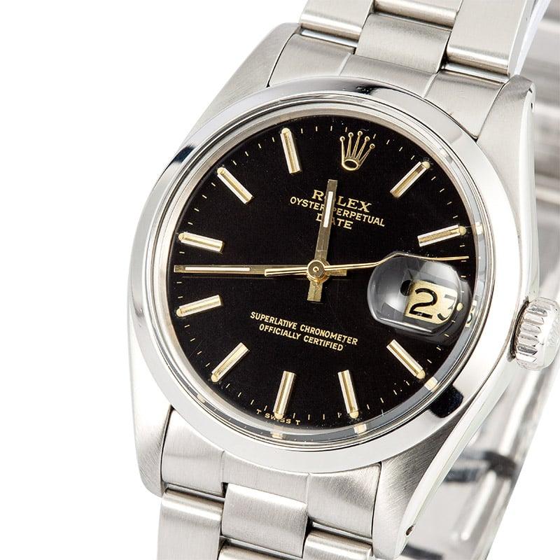 d561e734068 Rolex Date 1500 Black Dial 100% Authentic