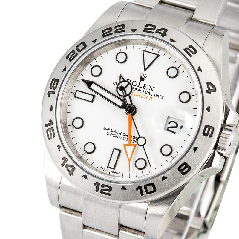 1d36670bbe0 Rolex Explorer II 216570 White Dial 100% Authentic