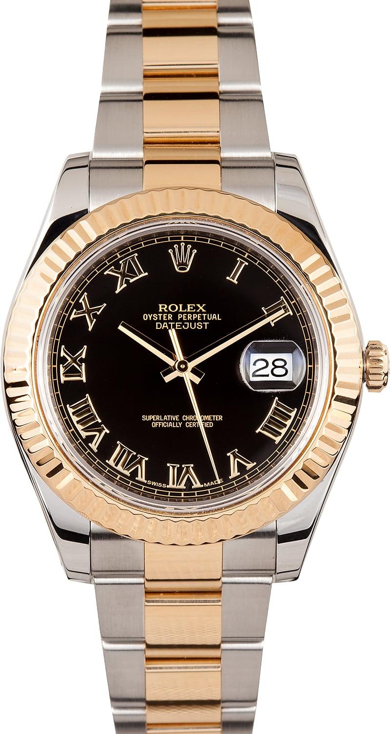 Rolex Datejust Ii Black Dial