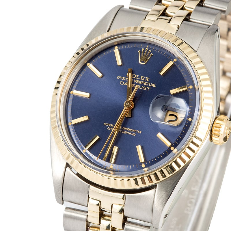 Rolex Datejust Blue Dial Two Tone