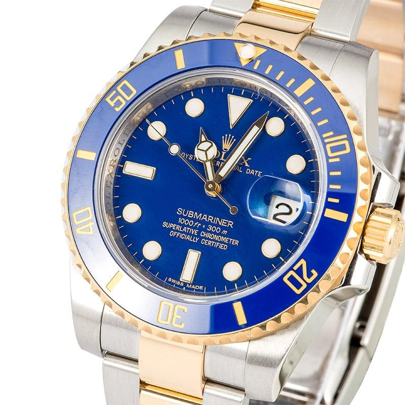 Rolex Submariner 116613 Blue Ceramic Bezel