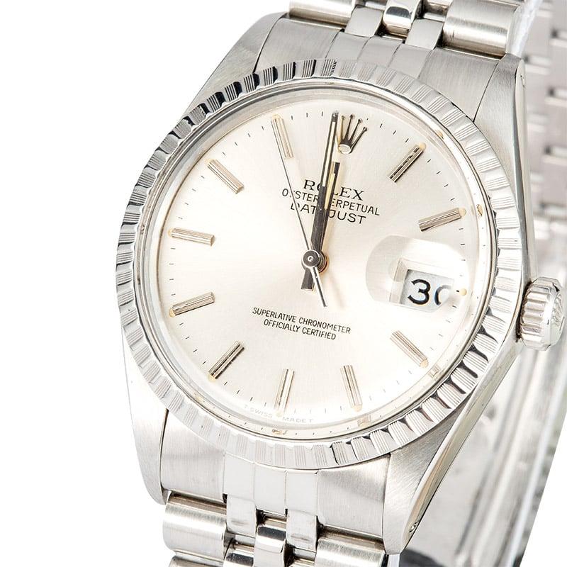 2b7d3754249c8 Rolex Datejust 16030 Silver Dial 100% Authentic