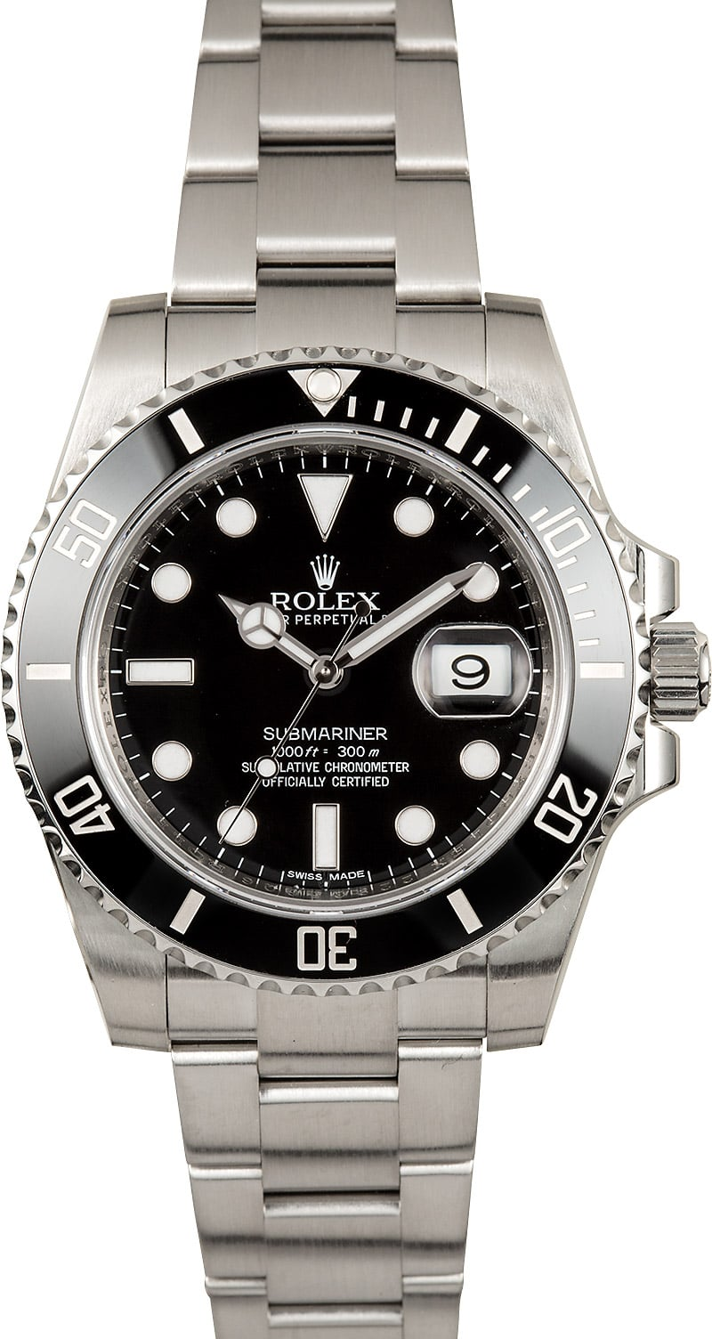 submariner rolex model 116610ln ceramic stainless save at bob 39 s watches. Black Bedroom Furniture Sets. Home Design Ideas