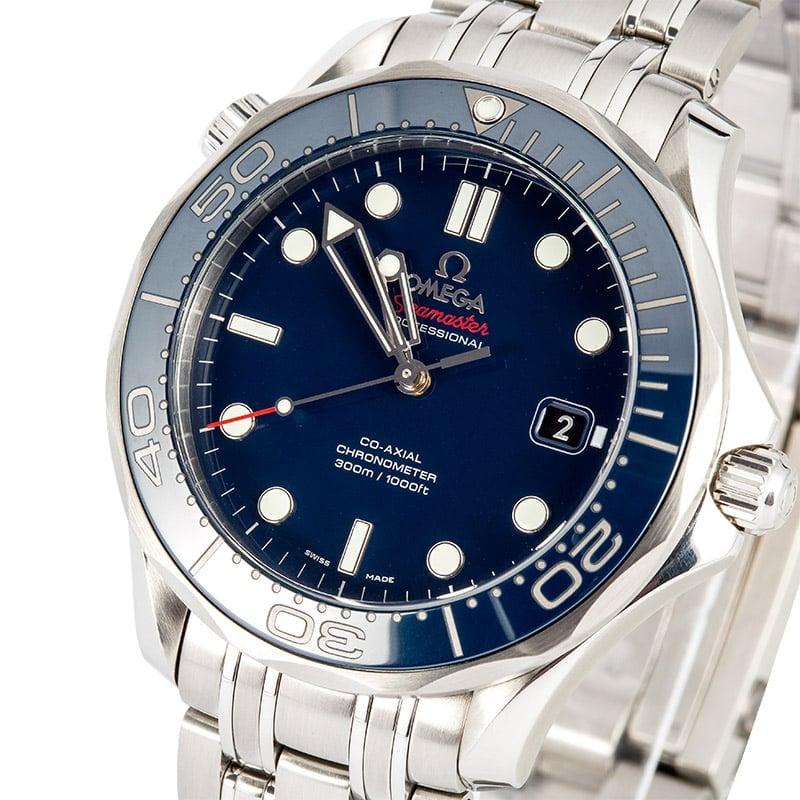 Omega seamaster diver 300m blue for Omega diver