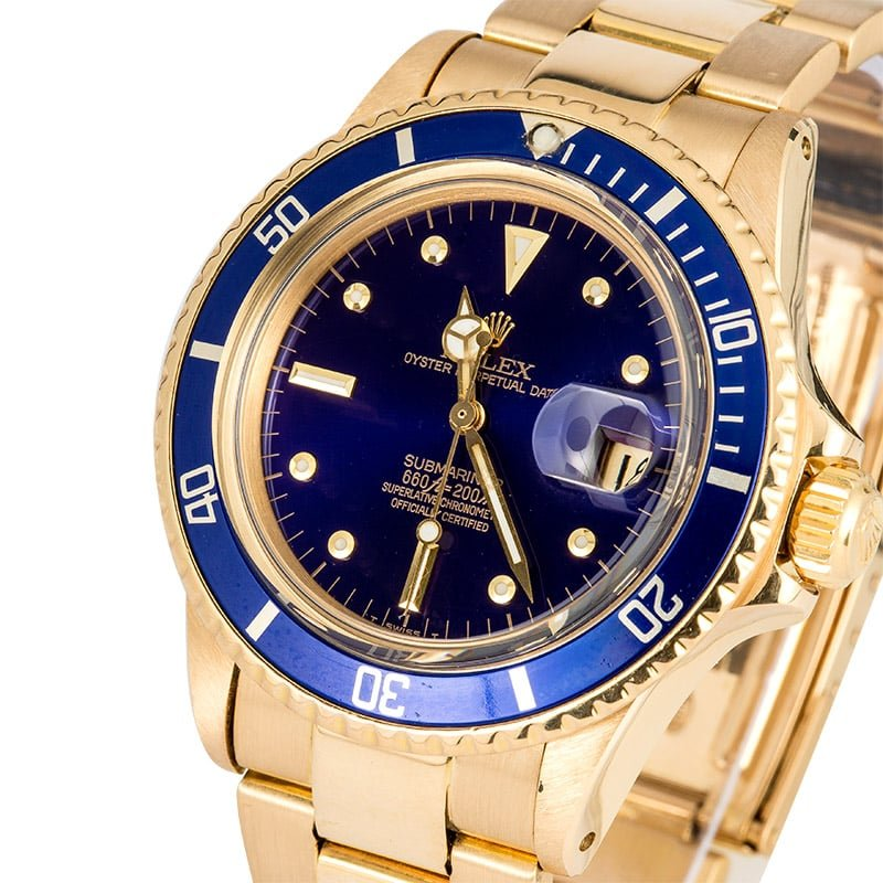 rolex vintage gold submariner 1680 blue. Black Bedroom Furniture Sets. Home Design Ideas