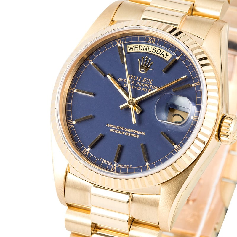 Rolex Day Date President 18038 Blue Dial