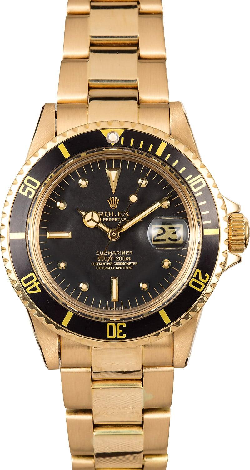 Rolex Vintage Submariner 1680 18K Yellow Gold