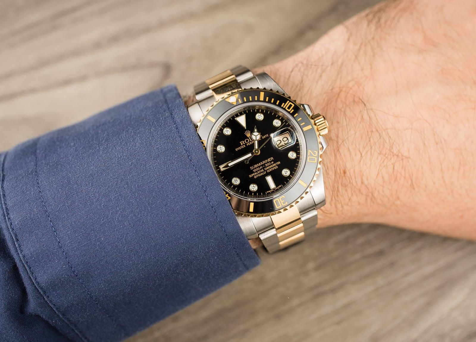 Rolex Diamond Submariner 116613 Two Tone