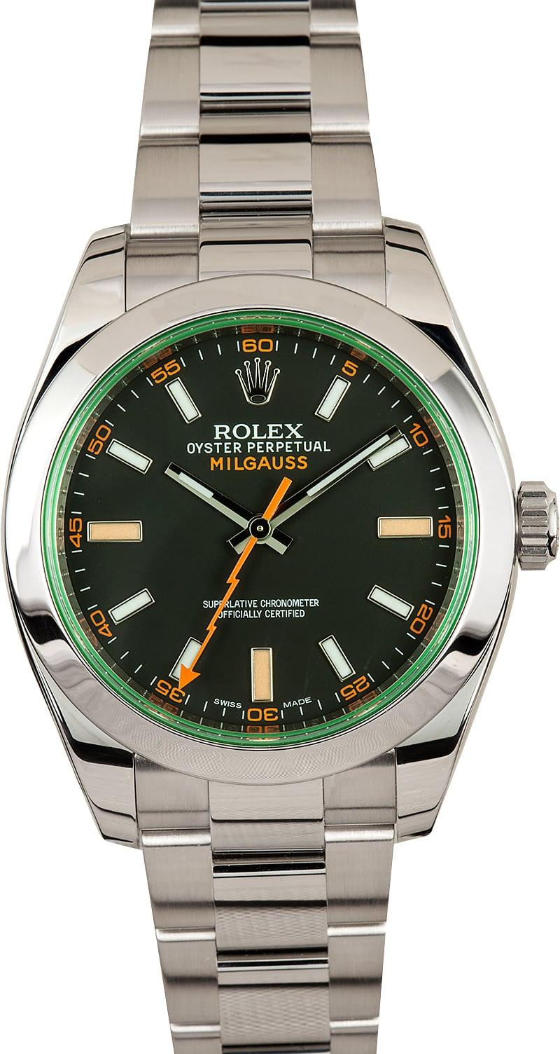 Milgauss rolex green crystal 116400gv for Rolex milgauss