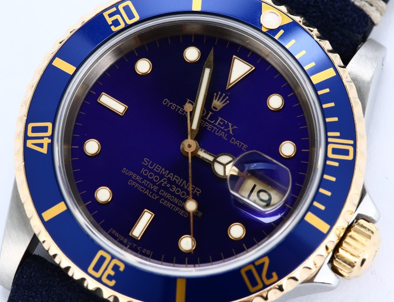 Rolex Submariner Blue Leather Strap