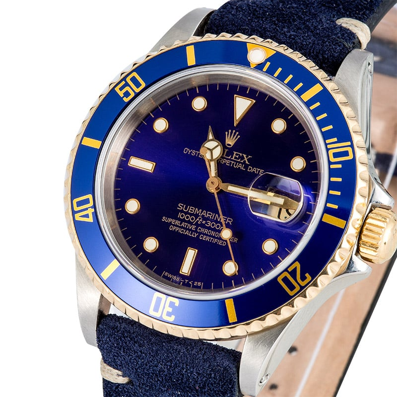 Submariner Rolex Leather Strap