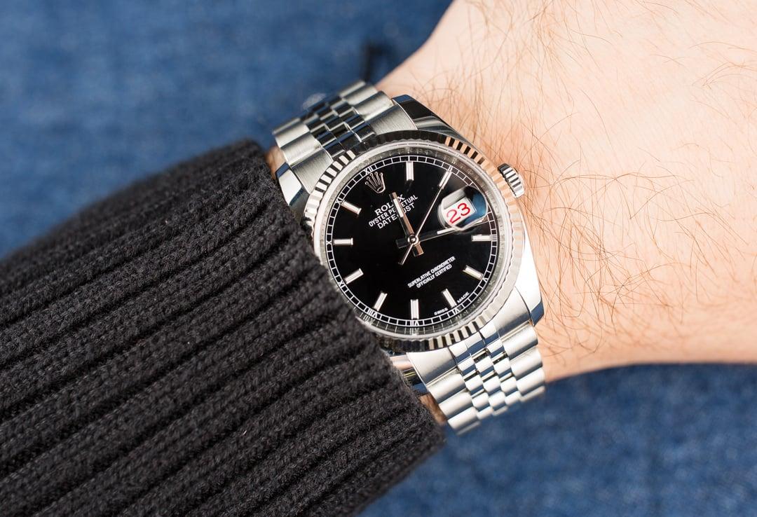 Rolex Black Datejust 116234 Jubilee